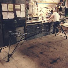 Steel table base- www.hard-goods.com Instagram | Hard Goods