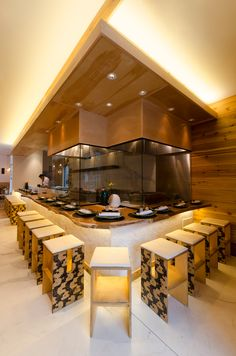Sumi Robata - Chicago, IL. LED Soft Strip SS2P by Edge Lighting | Designers: Antunovich Associates & Gene Kato