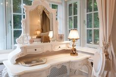 Parkside III, Luxury Master Bedroom dressing area, inspired by Louis XV era | JHR Interiors