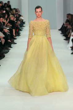 ELIE SAAB Haute Couture Spring Summer 2012 : seems like a modern day twist of Princess Belle's gown!