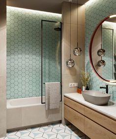 Дизайн интерьера двухкомнатной квартиры в ЖК Royal Park Bathroom Design Luxury, Bathroom Design Small, Bath Design, Modern Bathroom, Modern Shower, Small Toilet Design, Home Room Design, Apartment Interior Design, Interior S