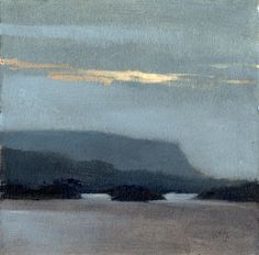 Marc Bohne, Untitled (The Dartry Mountains near Sligo, Ireland), oil/alkyd on paper, 6 x Contemporary Landscape, Contemporary Paintings, Landscape Art, Landscape Paintings, Paintings I Love, Seascape Paintings, Painting Inspiration, Amazing Art, Scenery
