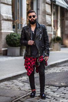 Men's fashion black #leatherjacket