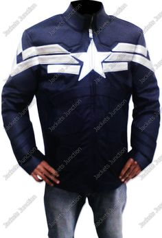 #CaptainAmerica #BlueLeatherJacket