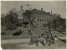Free time on the boy's playground, Kindergarten of the Perkins Institution for the Blind in Jamaica Plain, Massachusetts, 1910. Visit the Perkins Archives Flicker page: http://www.flickr.com/photos/perkinsarchive/collections/