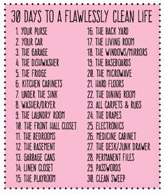30 Days to a Flawlessly Clean Life: The Ultimate Cleaning List