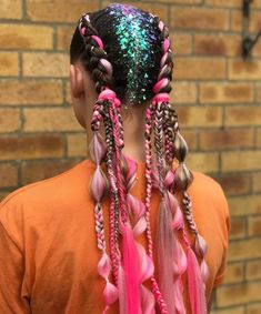 Shrine on 2 glitter sale order before to ensure your parcel gets shipped same day! Cute Ponytail Hairstyles, Black Girl Braided Hairstyles, Dress Hairstyles, Summer Hairstyles, Weave Hairstyles, Cool Hairstyles, Neon Hair, Pink Hair, Twists