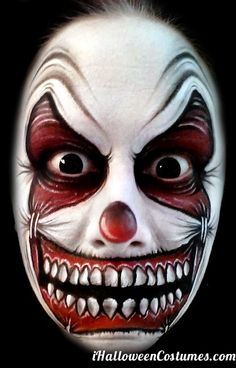 clown face makeup - Halloween Costumes 2013