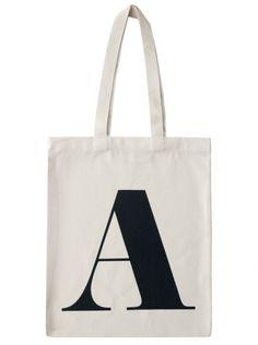 A - Natural | A | Letters | Alphabet Bags