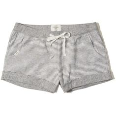 Hollister Double Layer Knit Sleep Short ($20) ❤ liked on Polyvore featuring intimates, sleepwear, pajamas, grey stripe, knit sleepwear, short pajamas, striped pyjamas, short sleepwear and short pjs