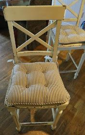 The Morning Stitch: Chair Pad Tutorial.  diy cushions