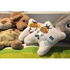 """Zahnfee- /Zahnkönigs-Kissen - da legt man den Milchzahn gerne drunter, oder? mit der Plotterdatei """"Zahnfee"""" von Céline Adekunle Design. Dinosaur Stuffed Animal, Animals, Design, Tooth Fairy, Projects For Kids, Pillows, Fall, Amazing, Animales"""