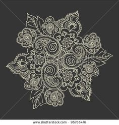 From Shutterstock, perfect for a beautiful henna/lace infusion tattoo