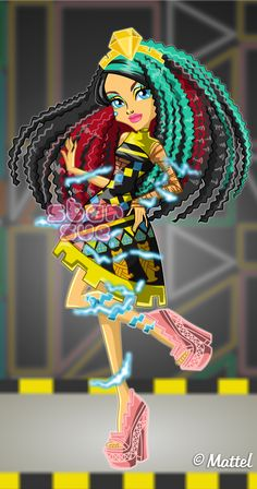 Monster High Electrified Supercharged Ghoul Cleo De Nile Dress Up Game