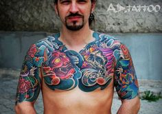 Japanese Tattoo by A.d. Pancho - http://worldtattoosgallery.com/japanese-tattoo-by-a-d-pancho-3/