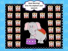 Attendance Circus Interactive Smartboard Morning