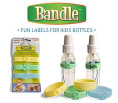 Bandle lables for baby bottles - Terrific for labeling bottles when bringing them to daycare