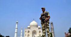 Security beefed-up at the Taj Mahal in Agra, on Oct 8, 2016. (Photo: Pawan Sharma/IANS)