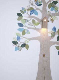 Wooden Birdhouse Light