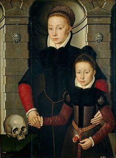 """(156) 트위터 Alice de Oz @deOzAlice  2시간2시간 전 Adriaen van Cronenburch,""""Dama y niña""""1567"""