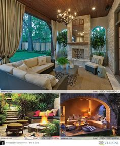 #Outdoor patio. #outdoor fireplace