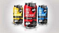 With this free soda can mockup PSD you can easily showcase your label and packaging design. The PSD file is fully editable allowing you to turn off shadow, reflection, water drops, leaves.