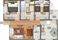 Para quem está pensando em construir, poderá conferir 6 modelos de plantas de casas até 65m2 para ter uma base de construção. Conheça os modelos!
