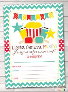 Bounce house instant download birthday party invitation girls bouncy movie party printable birthday party invitation filmwisefo Image collections
