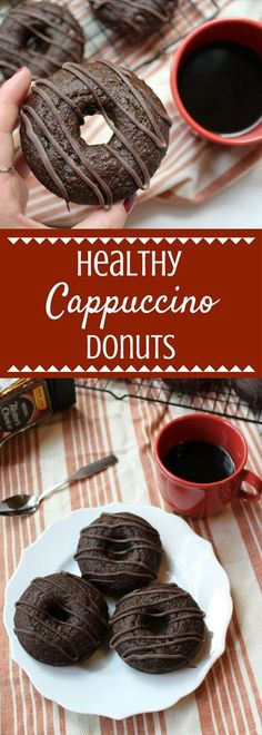 Coffee lovers rejoice! Enjoy all the rich, smooth flavors of your favorite cappuccino drink in these Healthy Cappuccino Donuts.