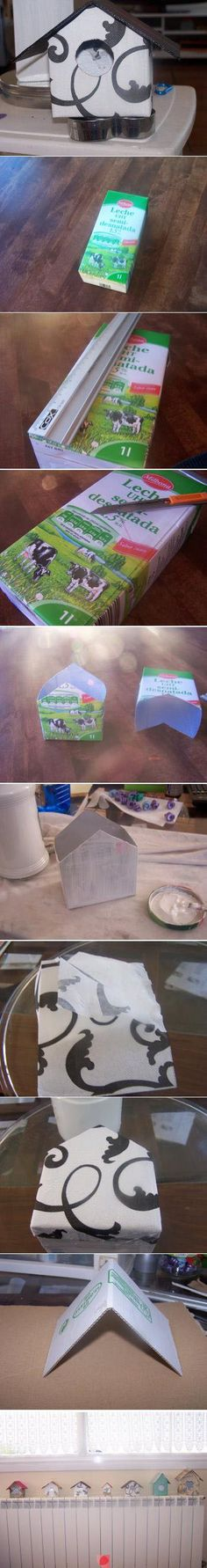 little houses from milk cartons