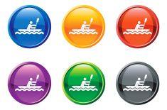 row boat button royalty free vector art vector art illustration