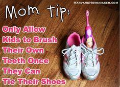 Top 10 Parenting Tips of 2013 - Brushing kids teeth #dallas #smile #dentist www.dallassmiledentist.com