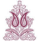 Paisley Redwork Quilt Blocks Machine Embroidery Designs CD 4x4 Brother, Janome