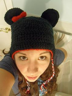 Crochet Mouse Ears with Bow