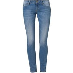 Sisley Slim fit jeans ($79) ❤ liked on Polyvore featuring jeans, pants, bottoms, pantalones, calças, blue, slim fit, women's trousers, slim jeans and slim leg jeans