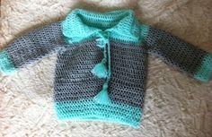 Baby boy crochet sweater