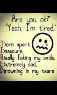 Might have used this excuse before. Not always though... Some times I really am tired. :)