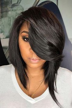 Bob with bangs wigs for black women human hair wigs lace front wigs african amerian wigs bob hairstyles - April 27 2019 at Long Bob Hairstyles, Black Women Hairstyles, Hairstyles With Bangs, Hairstyles 2016, Bob Haircuts, Beautiful Hairstyles, African Hairstyles, Latest Hairstyles, Afro Hairstyles