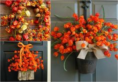 Exceptional and creative deco ideas for fall with physalis Thanksgiving Decorations, Christmas Decorations, Holiday Decor, Table Decorations, Fall Crafts, Diy And Crafts, Rama Seca, Decoration Plante, Autumn Decorating