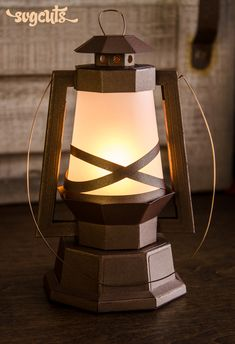 DIY rustic lantern | Paper Lantern from SVGCuts | for cutting machine