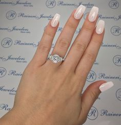 Raineri Jewelers Custom Made White Gold Diamond Engagement Ring Setting by Gabriel & Co Exclusively Sold by Raineri Jewelers, Center Stone Sold Separately Model Number 758464