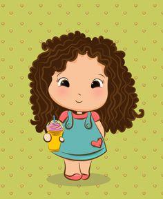 Cute Cartoon Drawings, Cartoon Faces, Girl Cartoon, Cute Illustration, Character Illustration, Doodle Art, Cute Images, Cute Pictures, Love Cartoon Couple