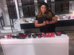 Liz on set with YBF Beauty! Check out their amazing cosmetic selection www.YBFBeauty.com