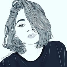 Bleistiftzeichnung Artwork – Alice Weeke – Join the world of pin Tumblr Girl Drawing, Tumblr Drawings, Girl Drawing Sketches, Girly Drawings, Outline Drawings, Girl Sketch, Cool Drawings, Drawing Eyes, Girl Cartoon