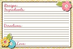 """Recipe card templates for ms word - prints of joy, Record your """"down home"""" recipes and keep them neatly organized with our line of digital recipe card templates. Description from shorthairstyle2015.net. I searched for this on bing.com/images"""