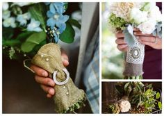 I like the top right burlap bouquet