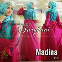 Madina Dress Ori Farghani Harga 300.000 Minimal pembelian 1 pcs Bahan Jersey + Ceruti + Brokat