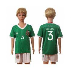 Mexico Trøje Børn 2016 #Salcido 3 Hjemmebanetrøje Kort ærmer.199,62KR.shirtshopservice@gmail.com