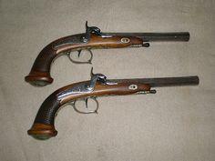 Dueling pistols.