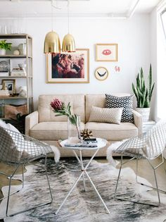 High and Low: Transitional Modern Living Room | Apartment Therapy